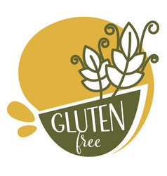 Gluten free product without allergen component vector