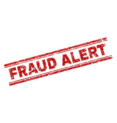 Grunge textured fraud alert stamp seal vector