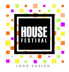 House festival logo design template creative vector
