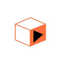 isometric play icon vector image