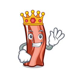 King ribs mascot cartoon style vector