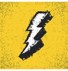 Lightning bolt grunge icon Thunderbolt Lev vector image vector image
