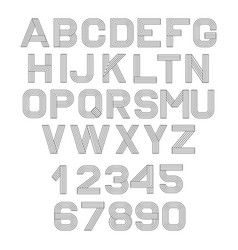 linear font vector image