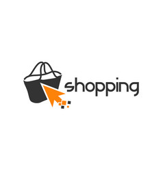 logo bag design online shopping vector image