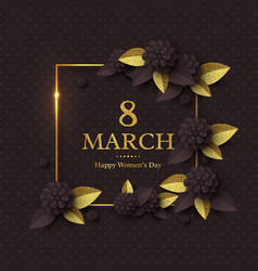 march 8 greeting card vector image