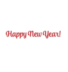 Merry christmas 2016 Happy New Year Beautiful text vector image