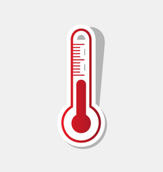 meteo diagnostic technology thermometer sign vector image