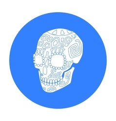 Mexican calavera skull icon in black style vector