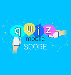 mobile quiz interview and online high score game vector image