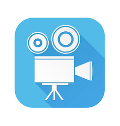 movie filming old retro camera white sign on vector image