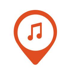 music icon location vector image