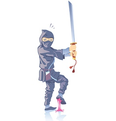 Ninja Confused vector image