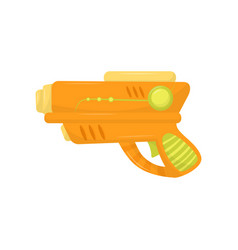 Orange toy gun weapon pistol for kids game vector
