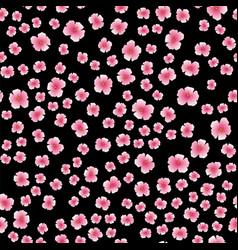 Pink flower seamless pattern vector