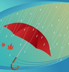 rain and umbrella vector image