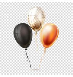 realistic shiny balloons vector image