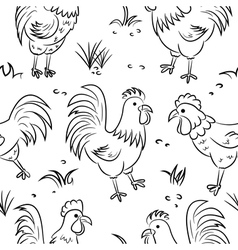 Roosters vector