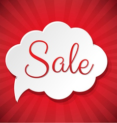 Sale Cloud vector image