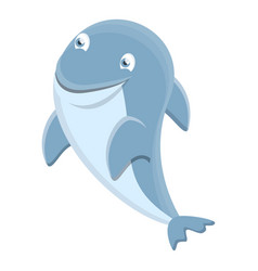 sea dolphin icon cartoon style vector image