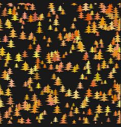 seamless abstract random pine tree pattern vector image