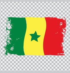 Senegal country transparent wavy flag grunge brush vector