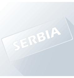 Serbia unique button vector