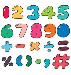 Set of number vector