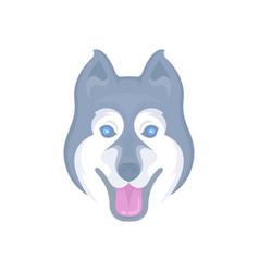 Siberian husky logotype vector