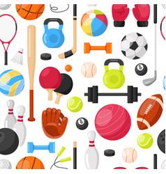 sport equipment seamless pattern vector image