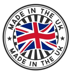 Stamp with flag uk made in uk vector