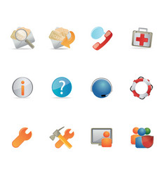 Support icon set ideal for web and print flyers vector