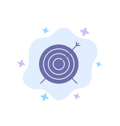 Target dart goal focus blue icon on abstract vector
