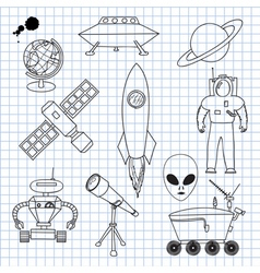 the images on theme outer space vector image