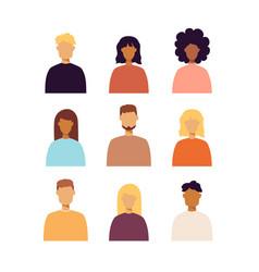 Trendy people portraits set vector