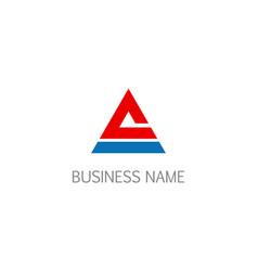 Triangle shape company logo vector