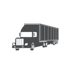 truck cargo delivery service symbol vector image