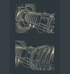 Turbofan jet engine vector