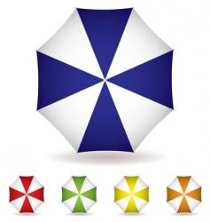 Umbrella top collection vector