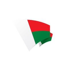 waving flag of madagascar isolated on white vector image