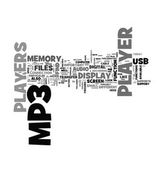 What to look for in a mp player text word cloud vector