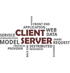 Word cloud - client server model vector