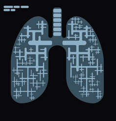 x-ray in flat drawing style vector image