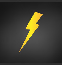 yellow lightning or charging icon simple flat vector image