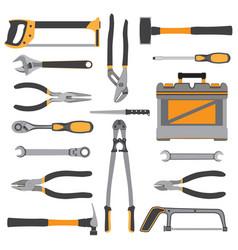 construction repair tools flat icon set bench vector image