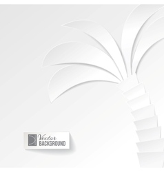 Palm tree on white background vector image
