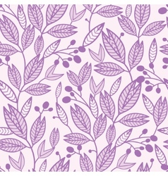 Striped leaves and berries seamless pattern vector image vector image