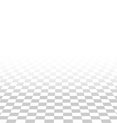 abstract square tile perspective white and gray vector image vector image