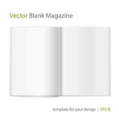 Blank magazine on white background template vector