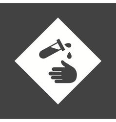 Corrosive Hazard vector image