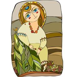girl in costume vector image